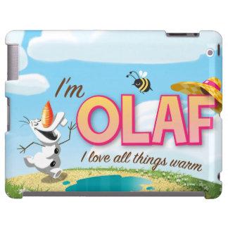 Soy Olaf, yo amo todas las cosas calientes Funda Para iPad