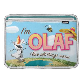 Soy Olaf, yo amo todas las cosas calientes Funda Para Macbook Air