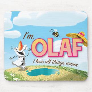 Soy Olaf yo amo todas las cosas calientes Alfombrillas De Ratón