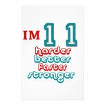 Soy once. ¡Mejore más difícilmente más rápidamente Papeleria De Diseño