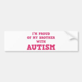 Soy orgulloso de mi Brother con autismo Pegatina Para Auto