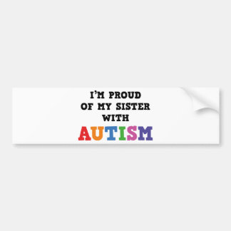 Soy orgulloso de mi hermana con autismo pegatina para auto
