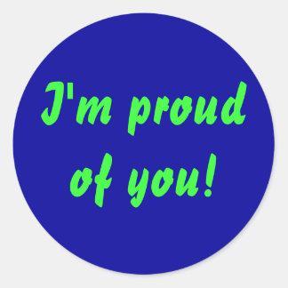 ¡Soy orgulloso de usted! pegatina