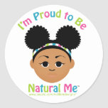 ¡Soy orgulloso ser natural yo! Etiqueta Redonda