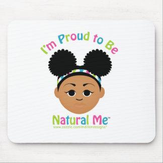 ¡Soy orgulloso ser natural yo! Tapete De Raton