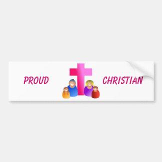 Soy orgulloso ser pegatina del Cristiano-Parachoqu Pegatina Para Auto
