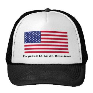 Soy orgulloso ser un americano gorras de camionero