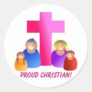 Soy orgulloso ser un cristiano - pegatina del
