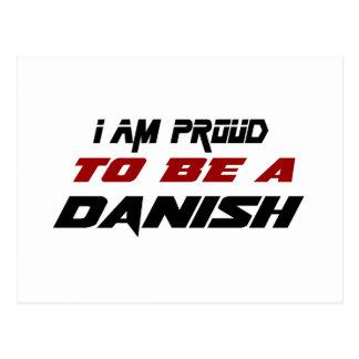 Soy orgulloso ser un danés tarjeta postal