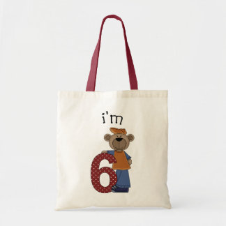 Soy oso de 6 cumpleaños bolsa tela barata