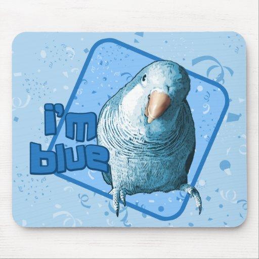 Soy Parakeet azul Mousepad del Quaker