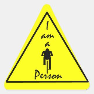 Soy pegatina Biking de la persona