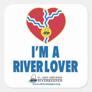Soy pegatina del amante del río