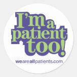 Soy pegatina del paciente también