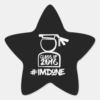 Soy pegatina hecho de la estrella del mayor 2016