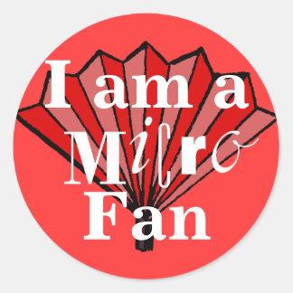 Soy pegatina micro de la fan