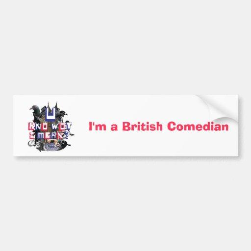 Soy pegatina para el parachoques británica del cóm pegatina para auto