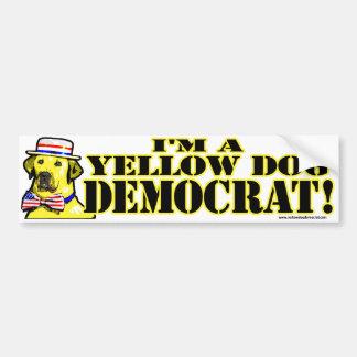 Soy pegatina para el parachoques de Demócrata del  Pegatina Para Auto
