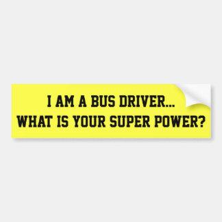 Soy pegatina para el parachoques del conductor del pegatina para auto
