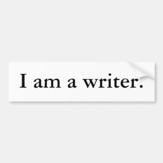 Soy pegatina para el parachoques del escritor pegatina para auto