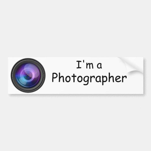 Soy pegatina para el parachoques del fotógrafo pegatina para auto