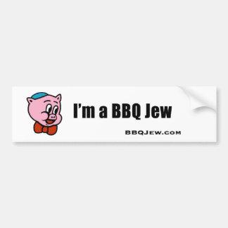 Soy pegatina para el parachoques del judío del Bbq Pegatina Para Auto
