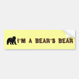Soy pegatina para el parachoques del oso de un oso pegatina para auto