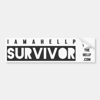 Soy pegatina para el parachoques del superviviente pegatina de parachoque
