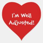 Soy pegatinas bien ajustados de la quiropráctica colcomanias de corazon
