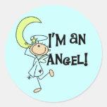Soy pegatinas de un ángel pegatina redonda
