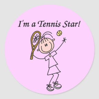 Soy pegatinas de una estrella de tenis pegatina redonda