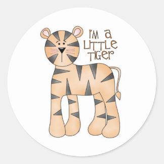 Soy pegatinas pequeños de un tigre pegatina redonda