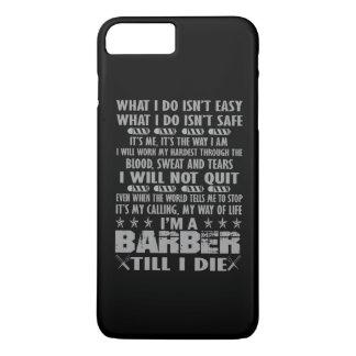 Soy peluquero hasta mí muero funda iPhone 7 plus