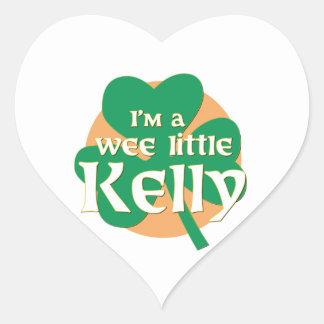 Soy pequeño Kelly pequenito Pegatina En Forma De Corazón