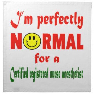 Soy perfectamente normal para NU registrado Servilleta