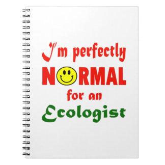 Soy perfectamente normal para un ecologista libro de apuntes