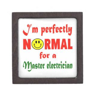 Soy perfectamente normal para un electricista caja de recuerdo de calidad
