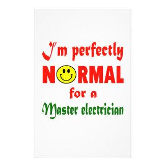 Soy perfectamente normal para un electricista papeleria personalizada