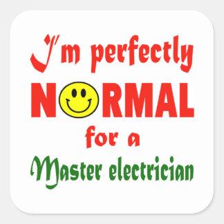Soy perfectamente normal para un electricista pegatina cuadrada