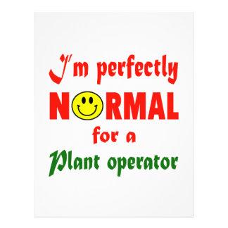 Soy perfectamente normal para un encargado de la membrete
