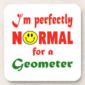 Soy perfectamente normal para un geómetra posavasos