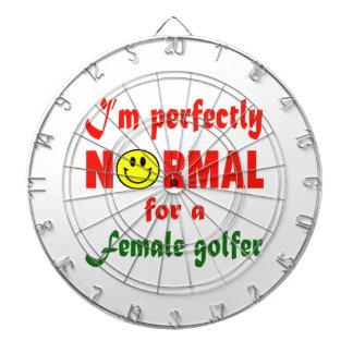 Soy perfectamente normal para un golfista femenino tabla dardos
