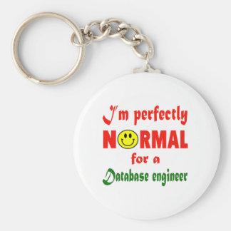 Soy perfectamente normal para un ingeniero de la llavero redondo tipo pin