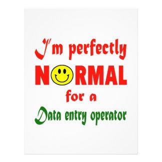 Soy perfectamente normal para un operador de plantilla de membrete