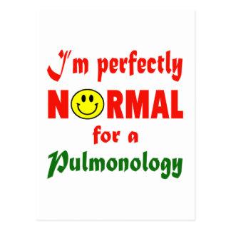 Soy perfectamente normal para un Pulmonology. Tarjeta Postal