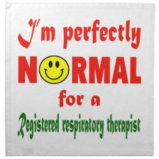 Soy perfectamente normal para un respiratorio servilletas de papel