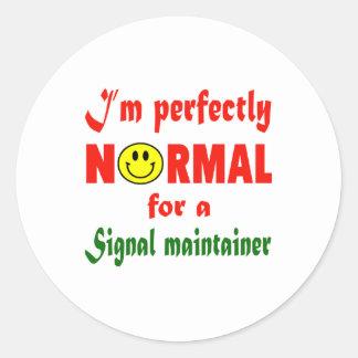 Soy perfectamente normal para un sostén de la pegatina redonda