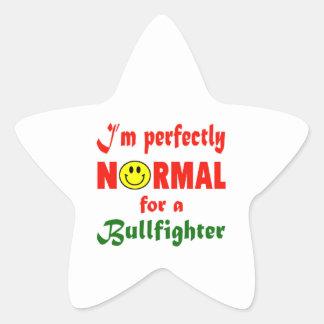 Soy perfectamente normal para un torero pegatina en forma de estrella