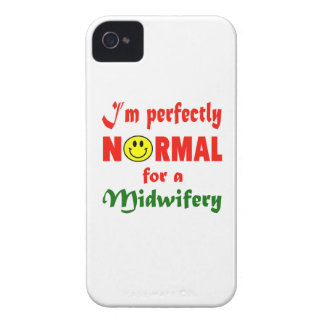 Soy perfectamente normal para una obstetricia Case-Mate iPhone 4 protector