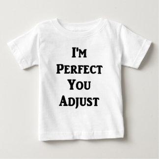 Soy perfecto usted ajusto playera para bebé